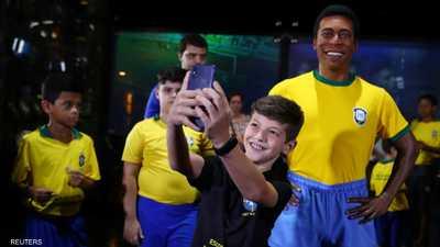 """تمثال جديد لبيليه في ريو.. و""""الملك"""" غائب عن إزاحة الستار"""
