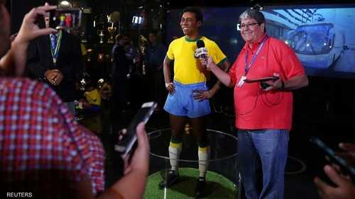 تمثال أسطورة كرة القدم البرازيلية بيليه