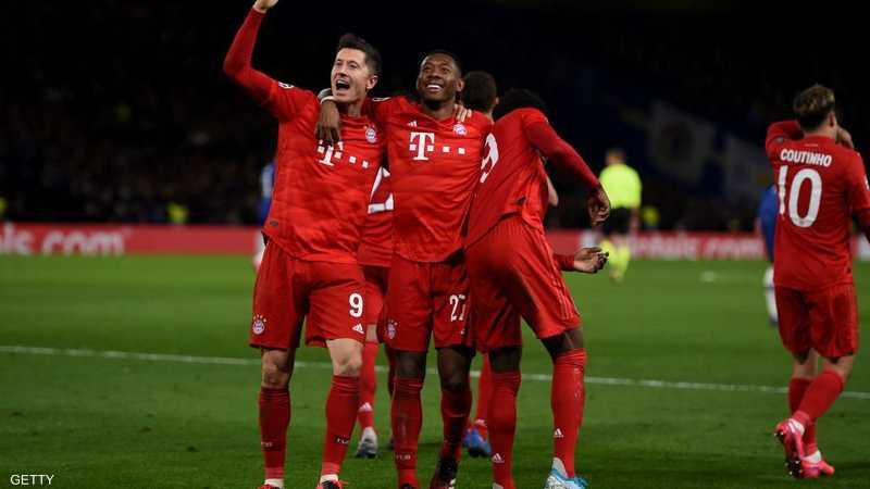 وضع بايرن ميونيخ قدما في ربع النهائي دوري أبطال أوروبا
