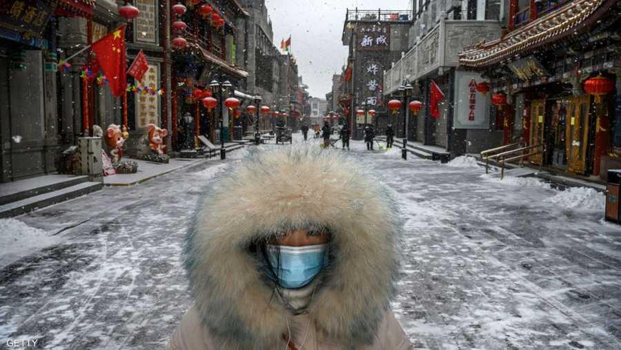 منظر غير مألوف.. شارع تجاري خال من السكان في بكين