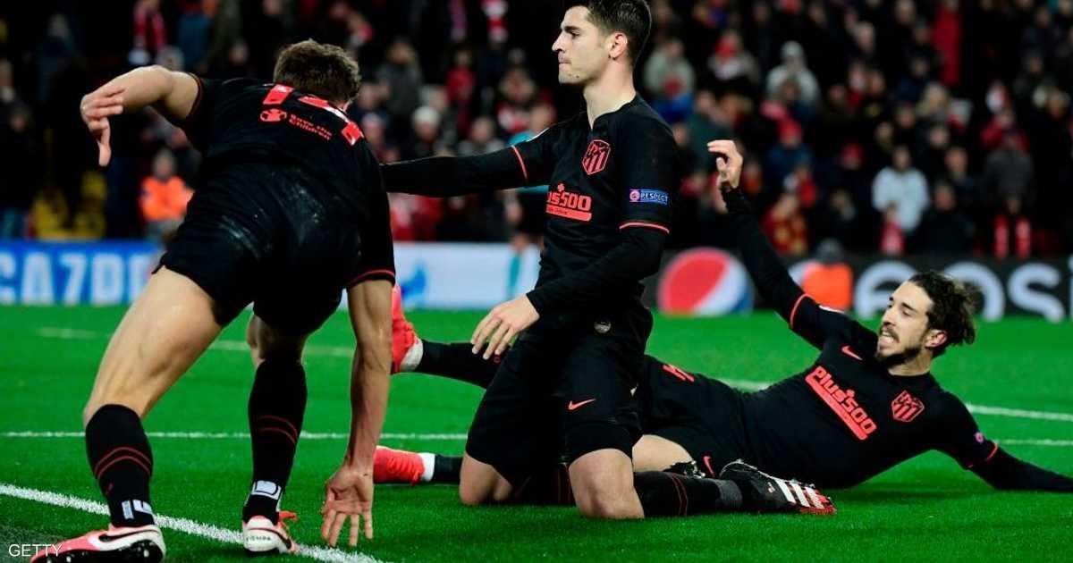 بأخطاء إسبانية.. أتلتيكو مدريد يقهر ليفربول في عقر داره