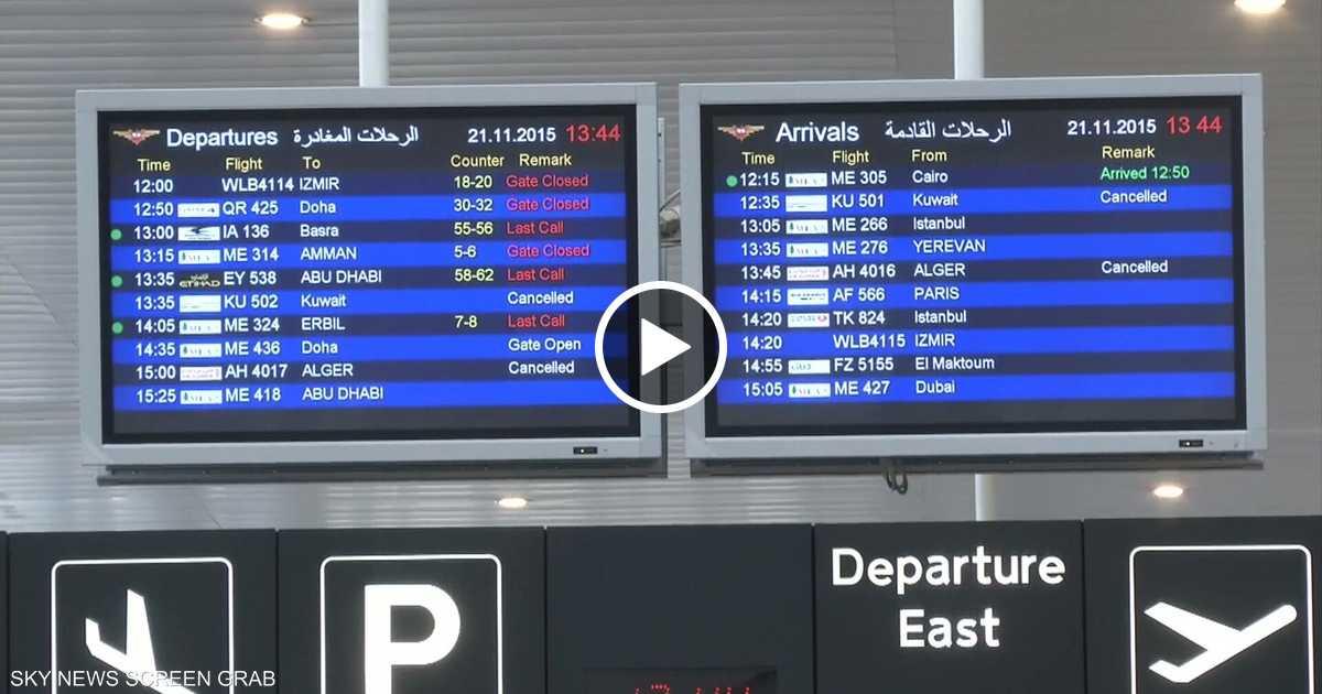 إقفال مطار بيروت والمعابر البرية والبحرية