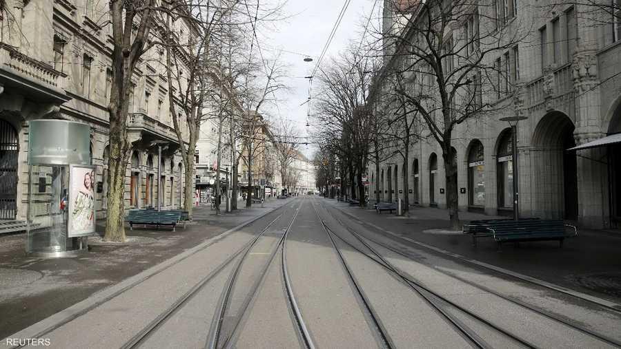 وهنا شارع التسوق في زيوريخ
