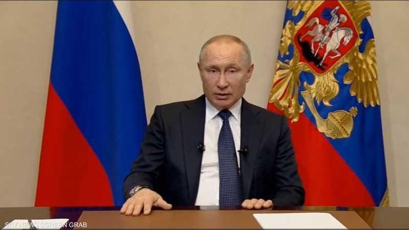 بوتن يعلن إجازة عامة في روسيا الأسبوع المقبل