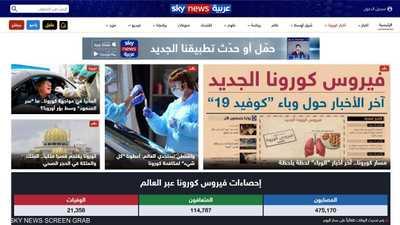 """البوابة العربية: """"سكاي نيوز عربية"""" الأفضل في تغطية كورونا"""