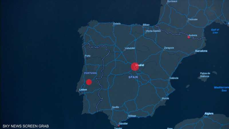 خريطة انتشار كورونا حتى اللحظة