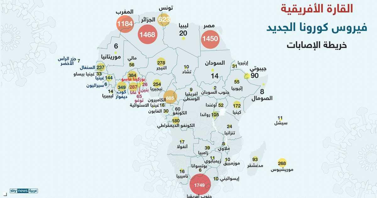 فيروس كورونا.. العرب الأكثر تأثرا في أفريقيا   أخبار سكاي نيوز عربية