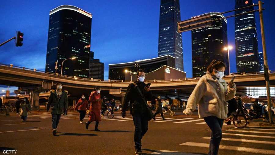عودة الحياة لشوارع بكين.