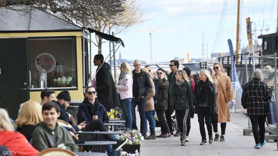 طابور في ستوكهولم من أجل شراء الآيس كريم.