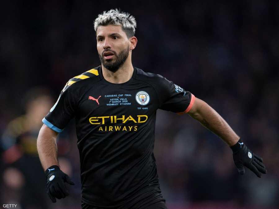 أغويرو عبر عن خشيته من استئناف الدوري الإنجليزي بسبب كورونا