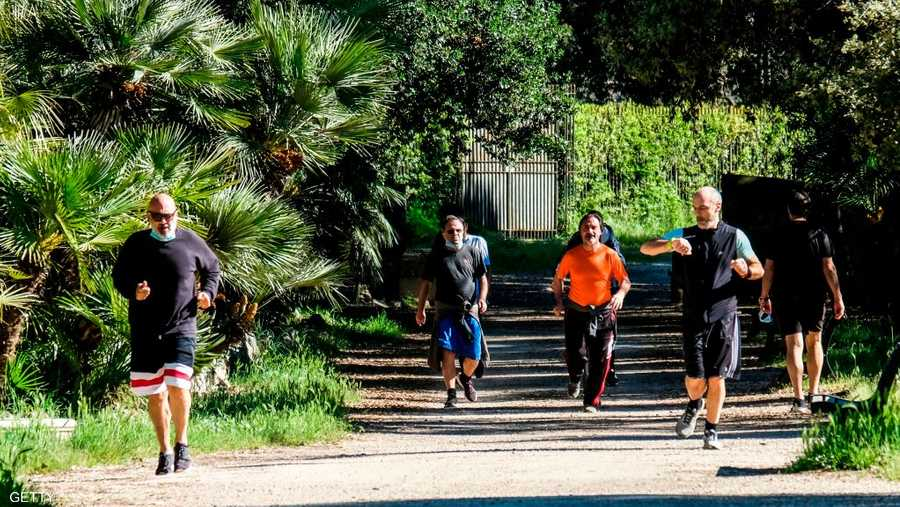 محبوا الرياضة عادوا لحدائق روما.
