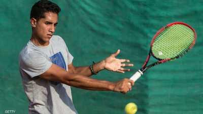 لاعب التنس المصري كريم حسام