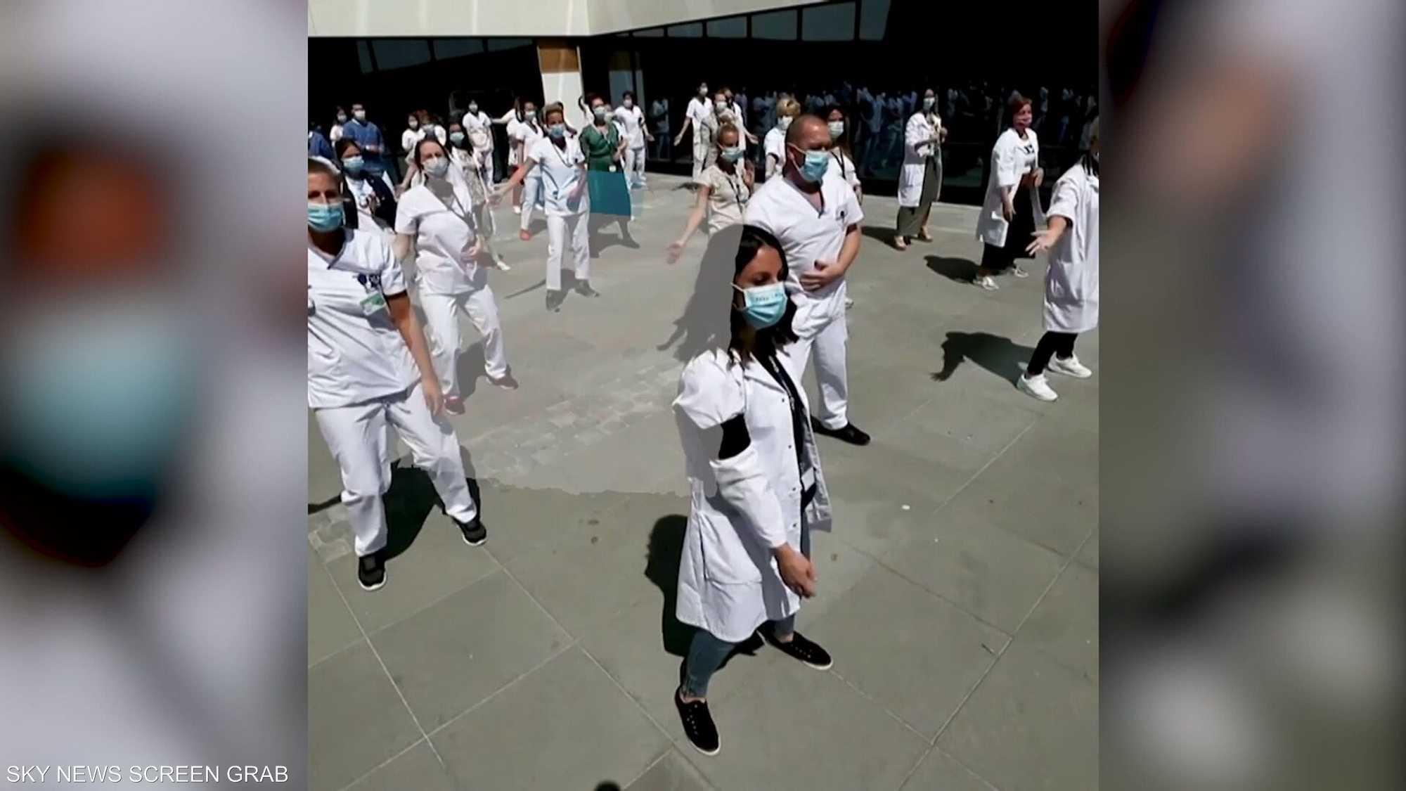 عمال القطاع الصحي يحتجون بالرقص في بلجيكا