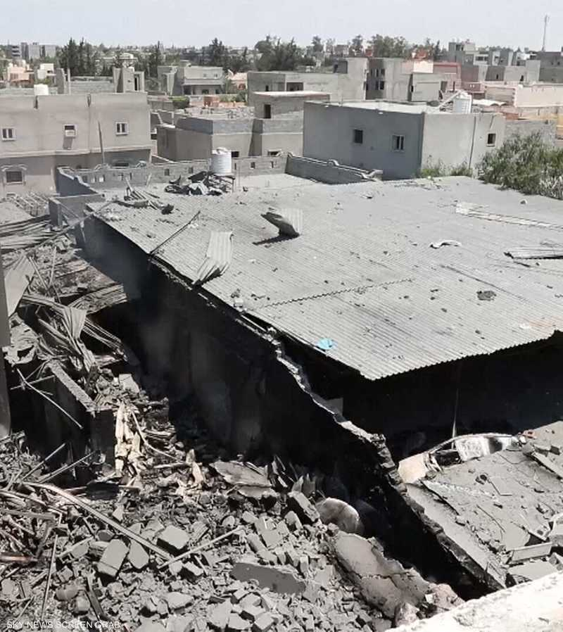 الجيش الليبي يواصل استهداف مخازن أسلحة مرتزقة تركيا