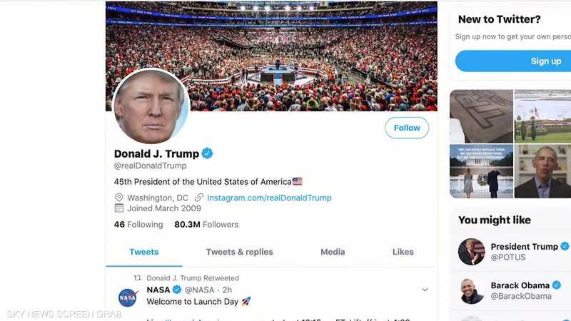 """ترامب يهدد تويتر بـ""""إجراء كبير"""""""