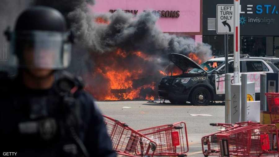 الشرطة أطلقت الرصاص المطاطي على المتظاهرين