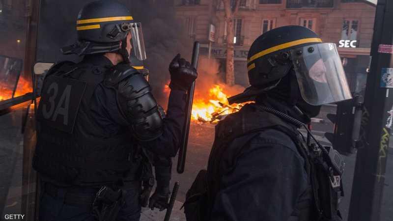 الشرطة الفرنسية تدخلت لتفريق المحتجين