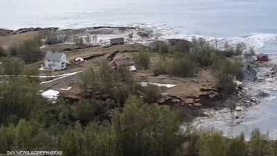 الانهيار فصل قطعة أرض عن اليابسة