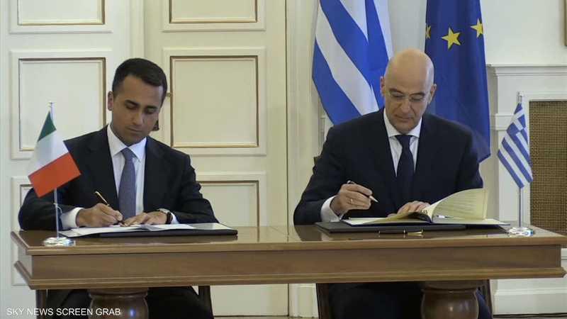 إيطاليا واليونان توقعان اتفاقية لترسيم الحدود البحرية بينهما