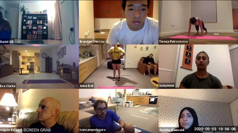 رياضيون يكسرون من أبوظبي رقما قياسيا عالميا عبر الإنترنت