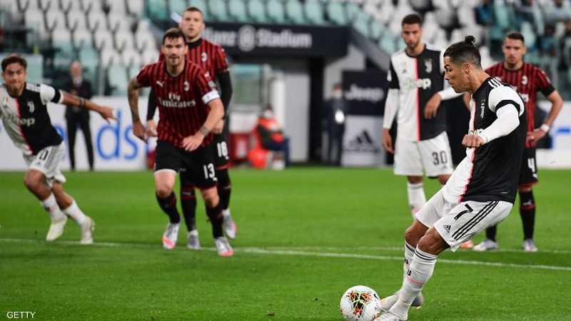 مع عودة كرة القدم.. كريستيانو رونالدو أضاع ركلة جزاء.