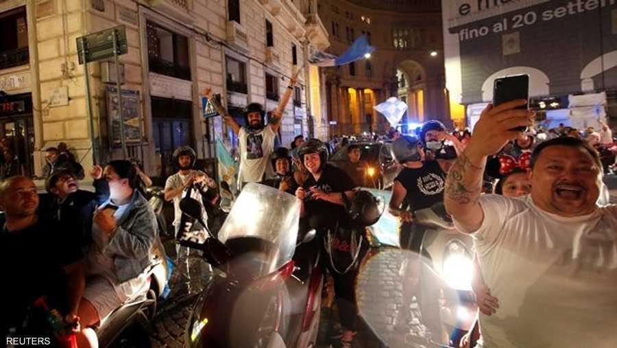 بدأت مسيرات السيارات والدراجات النارية بعد صافرة نهاية اللقاء، للاحتفال بالفوز.