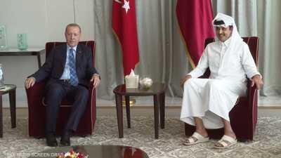 الرئيس التركي يلتقي أمير قطر في الدوحة