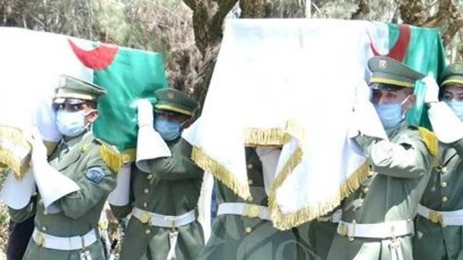رفات المقاومين كانت مسجاة بالعلم الجزائري، واستقبلها رئيس الجمهورية عبد المجيد تبون.