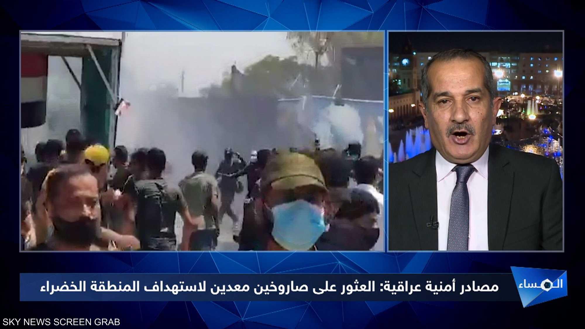 أنصار الفصائل المسلحة يحاولون اقتحام المنطقة الخضراء بيغداد