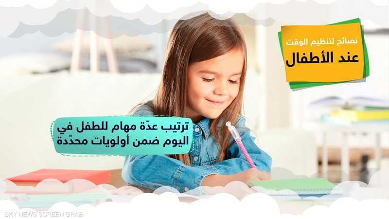 أهمية تعليم الأطفال تنظيم أولويات حياتهم وأوقاتهم
