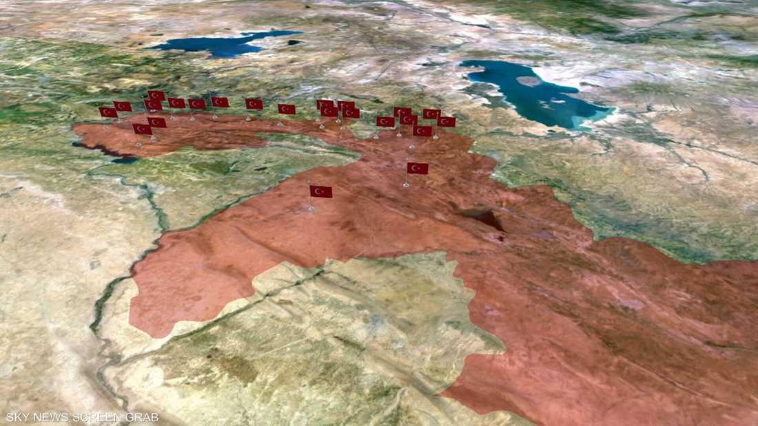37 نقطة عسكرية تركية داخل إقليم كردستان