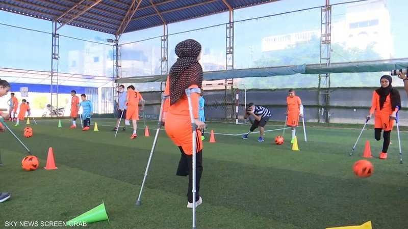 مبتورو أطراف في غزة يسعون لتكوين فريق دولي لكرة القدم