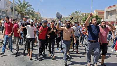 احتجاجات بمنطقة رمادة بمحافظة تطاوين التونسية