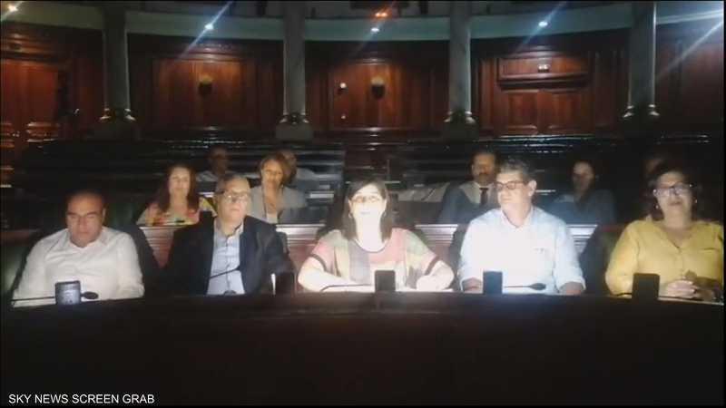 """تونس كتلة """"الحزب الدستوري الحر"""" تعتصم في البرلمان"""
