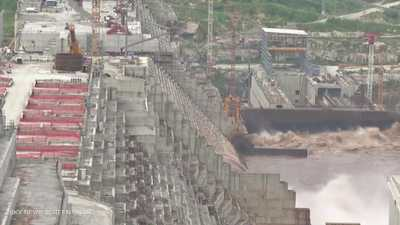 صور الأقمار الصناعية تظهر زيادة مياه خزان سد النهضة الإثيوبي