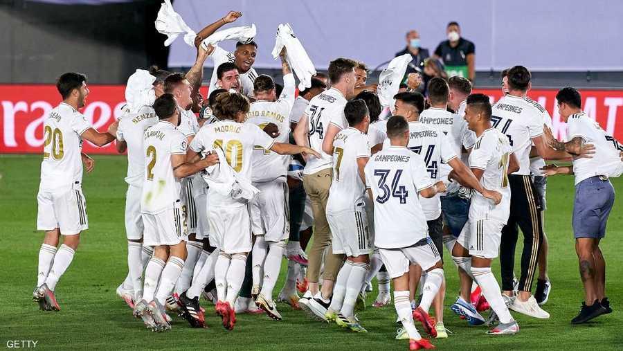 ريال مدريد حقق لقبه الـ34 ببطولة الدوري بعد غياب عامين