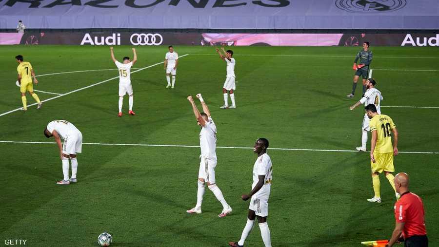 لحظة نهاية المباراة أمام فياريال.. وإعلان التتويج