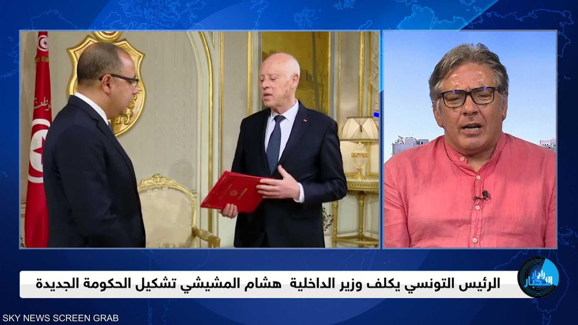 الرئيس التونسي يكلف هشام المشيشي بتشكيل الحكومة الجديدة