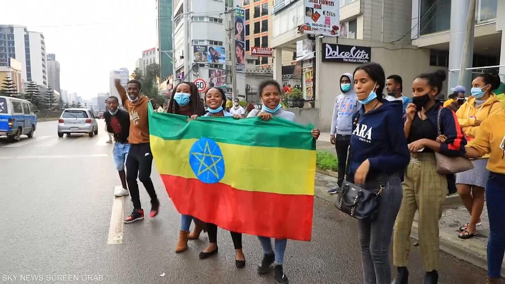 احتفالات تعم شوارع أديس أبابا باكتمال بناء السد