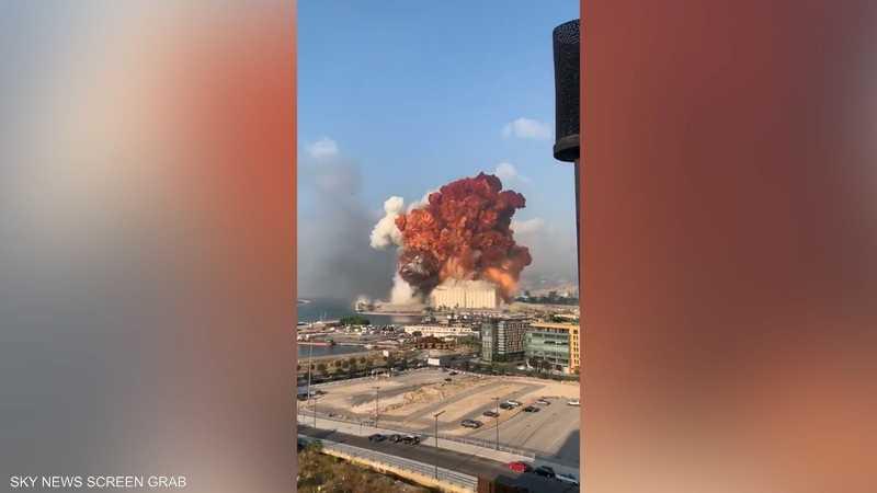 لحظة انفجار بيروت