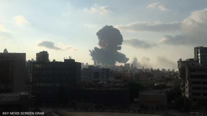 انفجار ضخم يهز بيروت