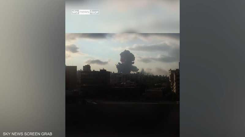 الصور الأولى لانفجار بيروت