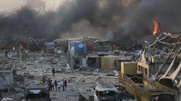 آثار الانفجار امتدت إلى أكثر من 20 كيلومترا في بيروت.