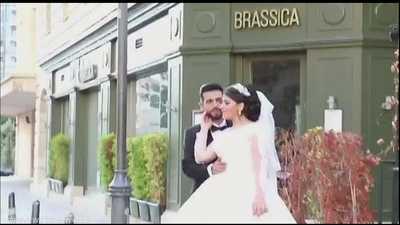 شاهد.. انفجار بيروت يباغت عروسين ويفسد فرحتهما