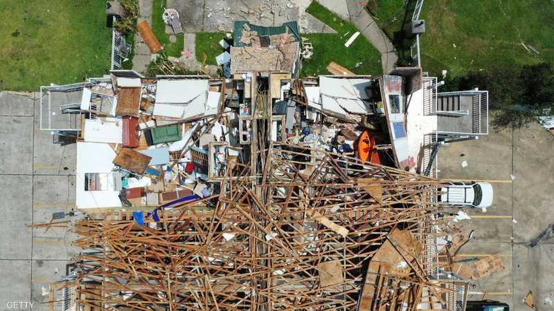 أحد مشاهد الدمار من ولاية لويزيانا