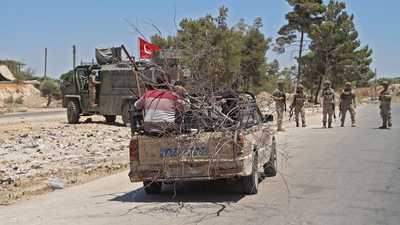 إصابة جنود أتراك في قصف صاروخي بريف حلب
