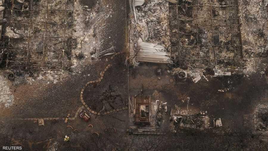 حرائق الغابات العديدة في الولاية قضت على الكثير من البلدات.