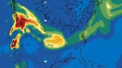 صور.. دخان حرائق غابات أميركا يصل إلى أوروبا