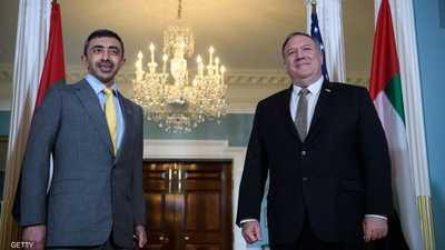 عبد الله بن زايد يلتقي بومبيو وقادة الكونغرس في واشنطن