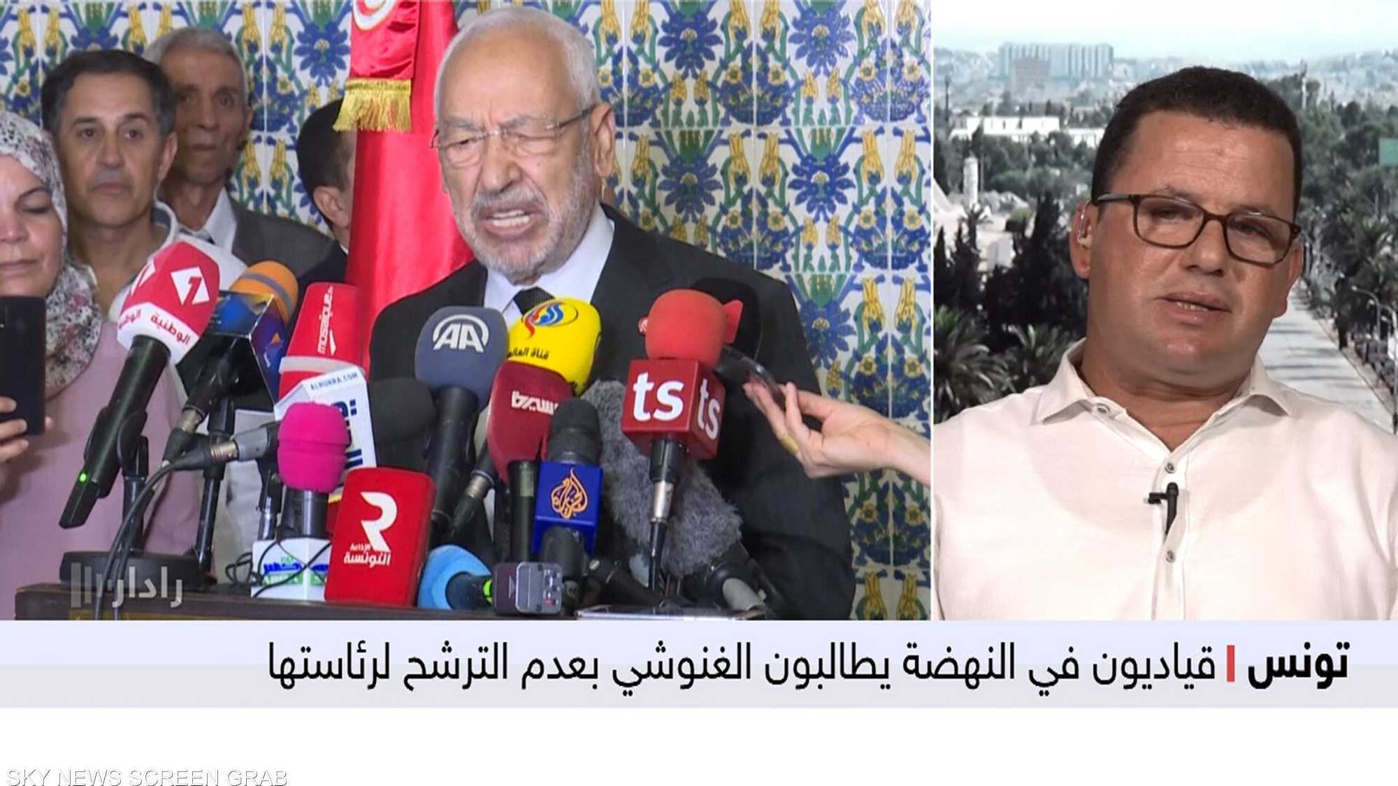 قياديون في النهضة يطالبون الغنوشي بعدم الترشح لرئاستها